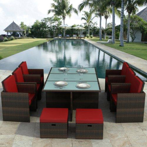gartenm bel bali braun rot essgruppe aus aluminium. Black Bedroom Furniture Sets. Home Design Ideas