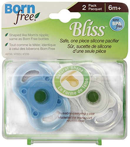 Born Free Bpa-Free Bliss Natural Shape Pacifier, Blue, 6M+ front-887415