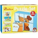 Schmidt Spiele 56504 - Puzzle - Set Die Maus 2 x 26, 2 x 48 Teile