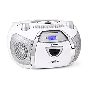 auna beebop poste radio k7 portable avec lecteur cd et port usb mp3 high tech. Black Bedroom Furniture Sets. Home Design Ideas