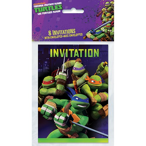 Teenage Mutant Ninja Turtles Invitations, 8ct