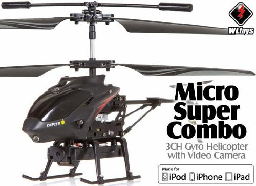 BUILT IN VIDEO CAMERA! Ready-to-Fly RTF Super Micro Helicopter with Spy Camera WLTOYS S215 for iPad iPhone Android tablet