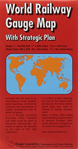 World Railway Gauge Map and Strategic Plan Booklet (Red Cover) (Railway Maps Of The World compare prices)