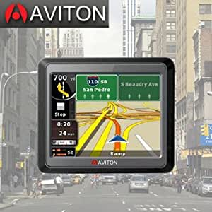 Aviton GPS Navigation Unit with Full-color, 3 1/2-inch touch screen.