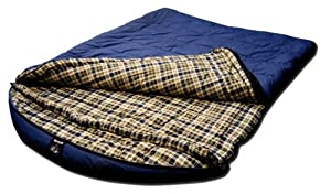 Grizzly 2 Person -25 Degree Canvas Sleeping Bag (Blue) by Grizzly