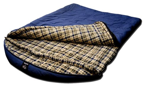 Grizzly 2 Person -25 Degree Canvas Sleeping Bag (Blue)