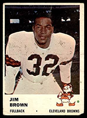 1961 Fleer # 11 Jim Brown Cleveland Browns-FB (Football Card) Dean's Cards 1.5 - FAIR