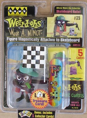 Weird-Ohs Carded Figure With 5 Collecter Cards #35 Wade A Minut