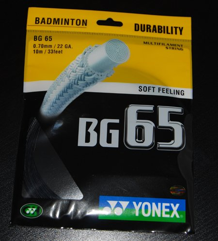 Yonex Badminton String Bg-65 - Black