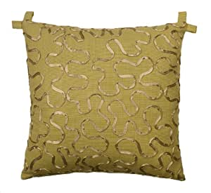 Rose Tree Decorative Pillows : Amazon.com - Rose Tree Tuscan Garden Square Ribbon Pillow, 18 by 18-Inch - Throw Pillows
