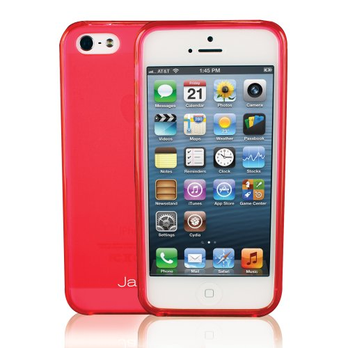 Jarv Flexible Tpu Matte Finish Snap-On Case For Iphone 5 - Clear Hot Pink
