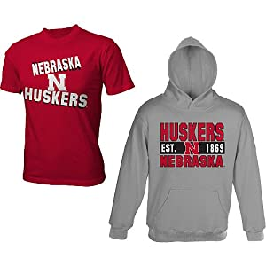 Nebraska Cornhuskers Youth Combo Pack Sweatshirt and T-Shirt by Genuine Stuff