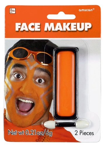 Orange Face Makeup