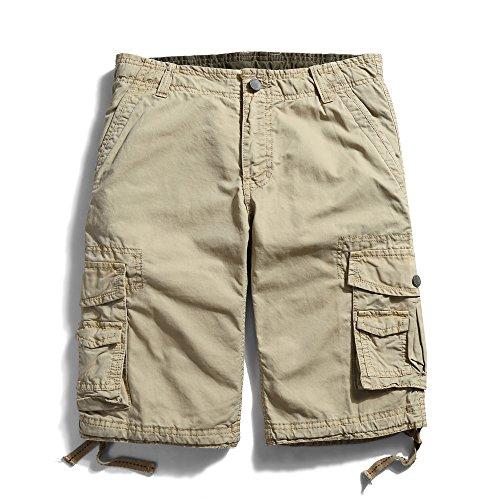 ochenta-mens-cotton-casual-multi-pockets-cargo-shorts-3231-khaki-38