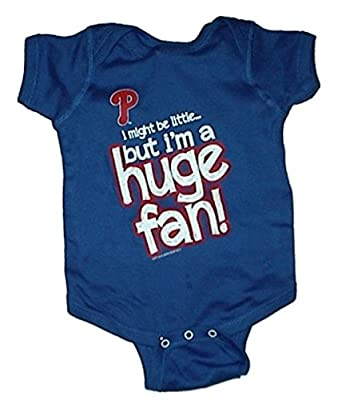Philadelphia Phillies Huge Fan MLB Newborn Baby Creeper USA Printed