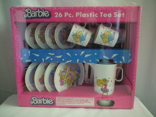 1989 Vintage Barbie 26 Piece Plastic Tea Set