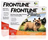 FRONTLINE PLUS for Dogs and Puppies - Up to 22 lbs - 12 month supply