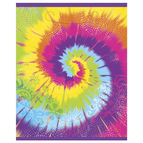 Birthday Party Celebration Tie Dye Swirl Sixties Theme Loot Bags Favors 8 Ct
