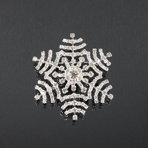 Snow Flake Rhinestone Fashion Brooch Bh6201-bc54