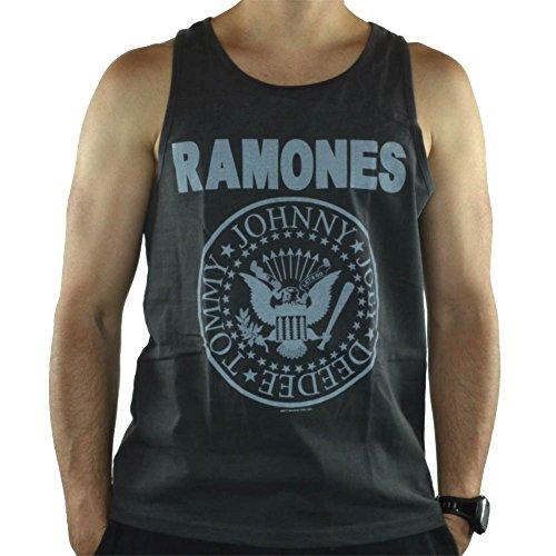 Amplified-Cover adesiva Ramones-Canottiera da uomo con Logo, colore: nero Nero  nero