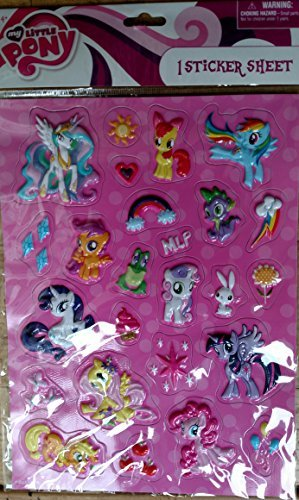 My Little Pony Raised Sticker Sheet