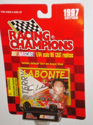 1997 Nascar Racing Champions 1/64 Scale Diecast Metal Replica with Stand, with Collectible Terry Labonte Card Kellogg's #5