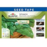 Burpee 60347 Certified Organic Seed Tape Spinach Bloomsdale Long Standing 22.5 Ft 120 Seeds