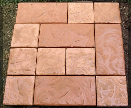 3pc Chiseled Rock Large Patio Paver - Concrete Molds
