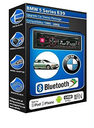 BMW Série 5 E39 autoradio Alpine UTE 72BT mains-libres Bluetooth pour autoradio stéréo