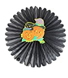 PrettyurParty Halloween Spiderweb Paper Fan