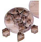LittleTiger® Set of 12pcs Stainless Steel Flower Shape Cake Vegetable Fruit Cutter Mold Tool , Cookie Cutter Set