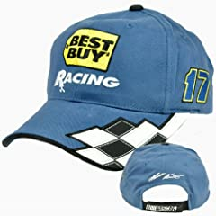 Matt Kenseth #17 Best Buy Racing Flag Adjustable Velcro Roush Fenway Hat Cap by NASCAR