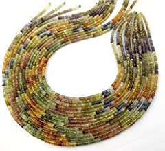 1 Strand Natural Multi Shaded Sapphire Faceted Rondelle 3-35mm Drilled Gemstone Beads Strandbeautifu