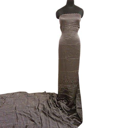 Indian raso de tela Manualidades marrón Pequeña polca puntos Decoración del hogar tela que acolcha Hacer Tela del vestido de costura por 1 Patio