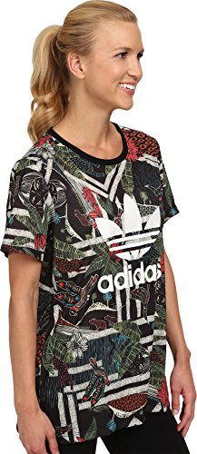 adidas Originals Women's Xilofloresta Logo Tee 660v ui 10a ith 1 0 2 on off on universal rotary cam changeover switch