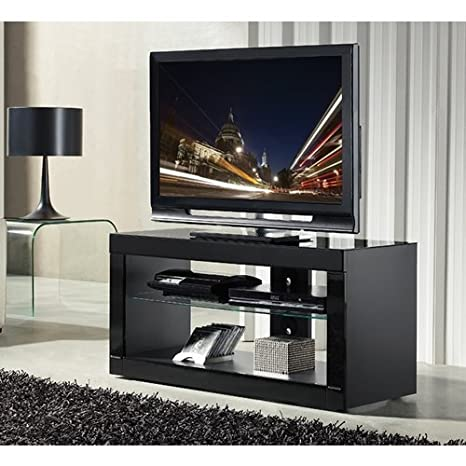 B-Tech BTF802/B Design For Flatscreen TV Stand Glass Surface (Maximum Load 70 kg) Black
