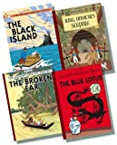 Herge The Adventures of Tintin Original Hardback Collection 2 - 4 Books RRP £43.96 (The Blue Lotus; The Broken Ear; The Black Island; King Ottokar's Sceptre)