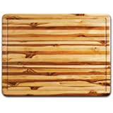 "Proteak Rectangular Cutting Board, 24"" x 18"" x 1-1/2"" with Hand Grip and Juice Canal"