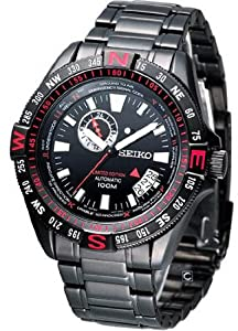 Seiko Men's Superior SSA113 Black Stainless-Steel Automatic Watch with Black Dial