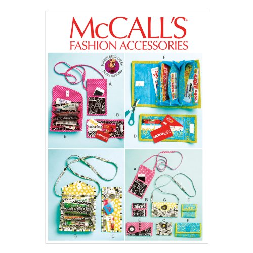 McCall Pattern Company M6768 Phone Purse, Rewards Card Wallets and Coupon Clutches Sewing Template, One Size Only (Purse Sewing Patterns compare prices)