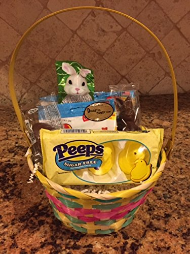Desertcart diabetic candy buy diabetic candy products online sugar free easter bunny basket with chocolate and candy peeps all beautifully wrapped and ready to give for easter by diabetic candy negle Images