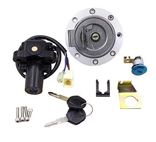GooDeal Ignition Switch Lock Fuel Gas Cap Key Set for 1998-1999 2004-2012 Yamaha YZF R1 (2008 Yamaha R1 Ignition Switch compare prices)