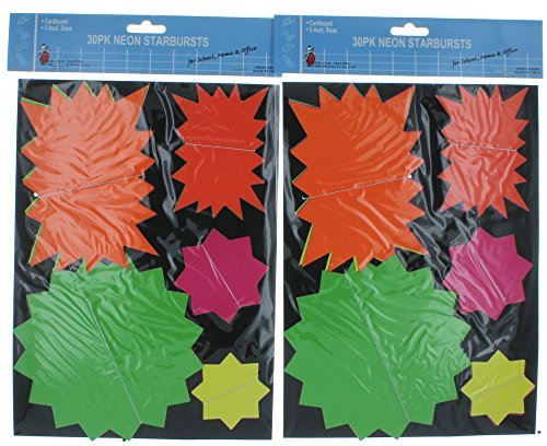 lot-of-60-neon-starburst-bright-sign-tags-price-sale-by-values
