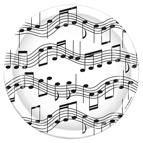 Music Note Birthday Party Dinner Plates