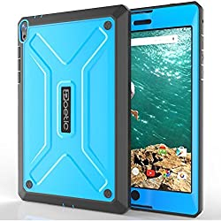 Google Nexus 9 Case - Poetic Google Nexus 9 Case [Revolution Series] - [Heavy Duty] [Dual Layer] [Screen Shield] Protective Hybrid Case with Built-In Screen Protector for Google Nexus 9 Blue