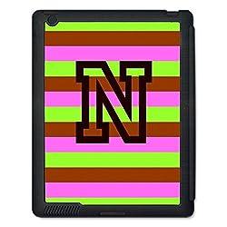 Skin4gadgets Neapolitan Ice Cream Colour Stripes 2 name Alphabet N Tablet Designer SMART CASE for IPAD 4