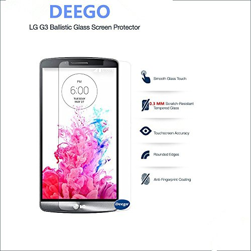 Deego Tempered HD Glass Screen Protector for LG G3