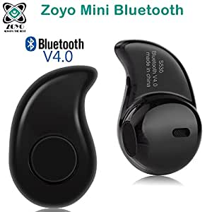 Zoyo Mini Style Wireless Bluetooth Headphone Black S530 1Pcs In-Ear V4.0 Stealth Earphone Phone Headset Handfree Compatible with Samsung, Motorola, Sony, Oneplus, HTC, Lenovo, Nokia, Asus, Lg, Coolpad, Xiaomi, Micromax and All Android Mobiles Bluetooth Headset.