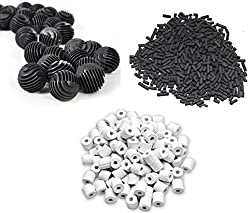 500g Activated Carbon + 500g ceramic rings + 22 Bio Balls - Suitable for All Aquarium Fish Tank ** COLOURFUL AQUARIUM **