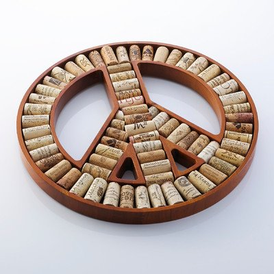 Peace Sign Wine Cork Kit front-576409